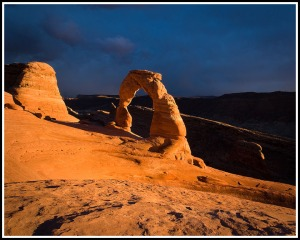 Dark Skies above Delicate Arch